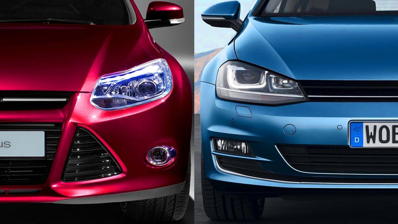 Design Ford Focus 2014 vs Volkswagen Golf 7  YouTube