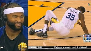 DeMarcus Cousins Clowns Kevin Durant After He Falls For Not Wearing Puma & Reacts To DeAndre Ayton!
