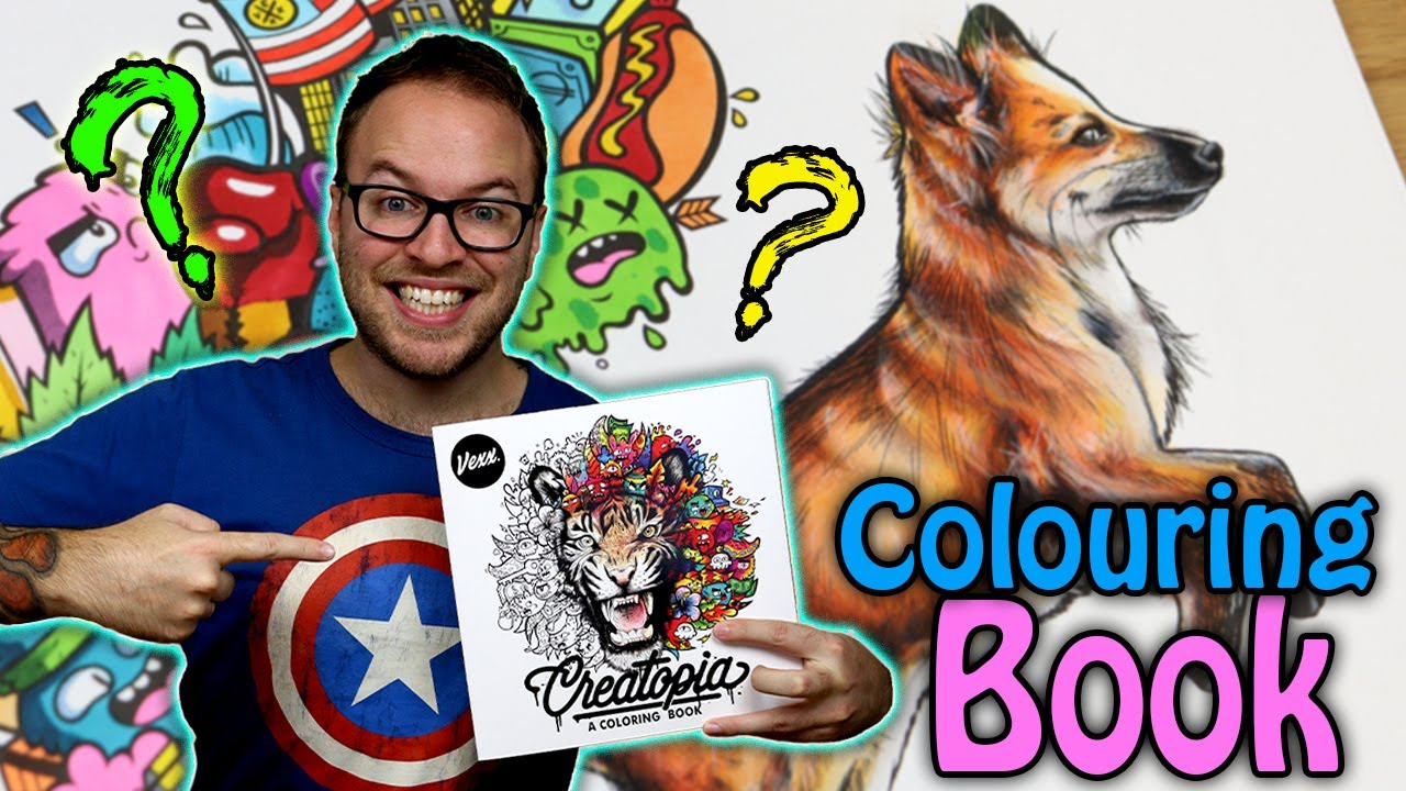 Professional Artist Colours a COLOURING BOOK..?  @Vexx Edition  Season 199.  Ep 19