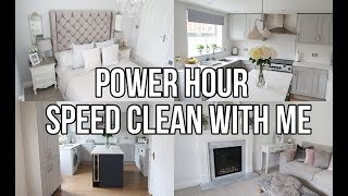 POWER HOUR SPEED CLEAN MY HOUSE WITH ME 2018