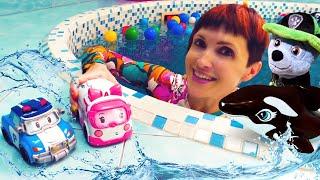 Фото Маша Капуки и игрушки в бассейне - Щенячий патруль в песочнице. Сборник для детей