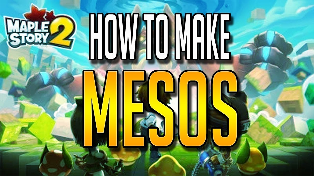 How To Make Mesos - MapleStory 2 Beginners Guide