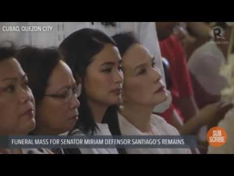 Sen. Miriam Defensor-Santiago Funeral Coverage - Inihatid na sa huling hantungan