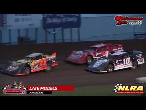NLRA Late Model Highlights - River Cities Speedway - June 29, 2018