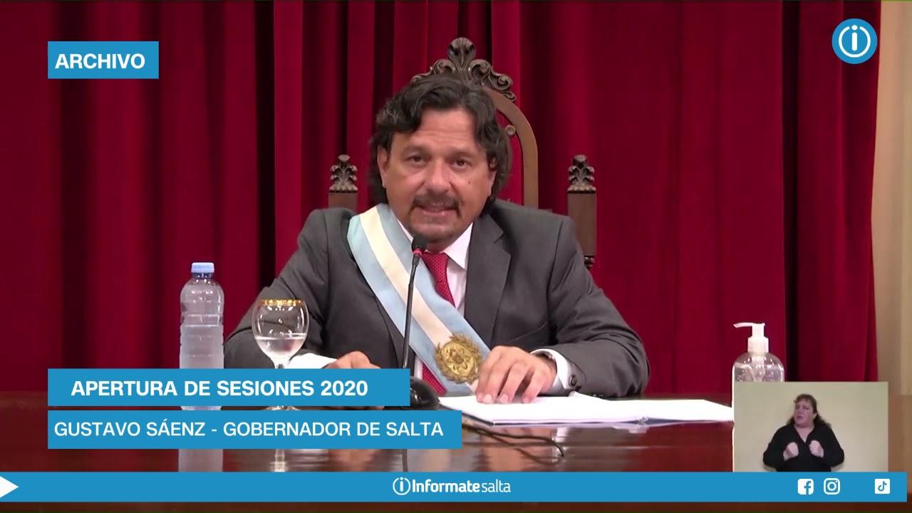 Qué dijo Sáenz en la Apertura de Sesiones 2020