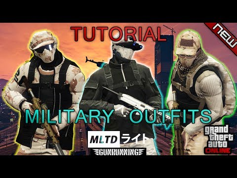 *NEW* TOP 3 GUNRUNNING MILITARY OUTFITS | 1.40 | GTA Online | Clothing glitches | NOT MODDED