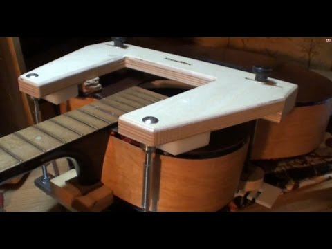 Steaming off harmony kay acoustic guitar neck removal reset