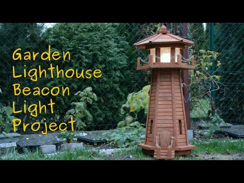 Garden lighthouse beacon light demo YouTube
