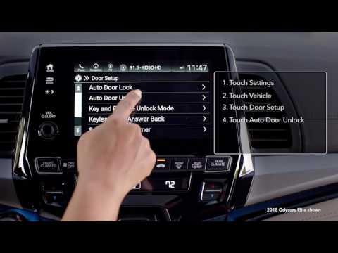 2018 Honda Odyssey: How to Change Vehicle Settings