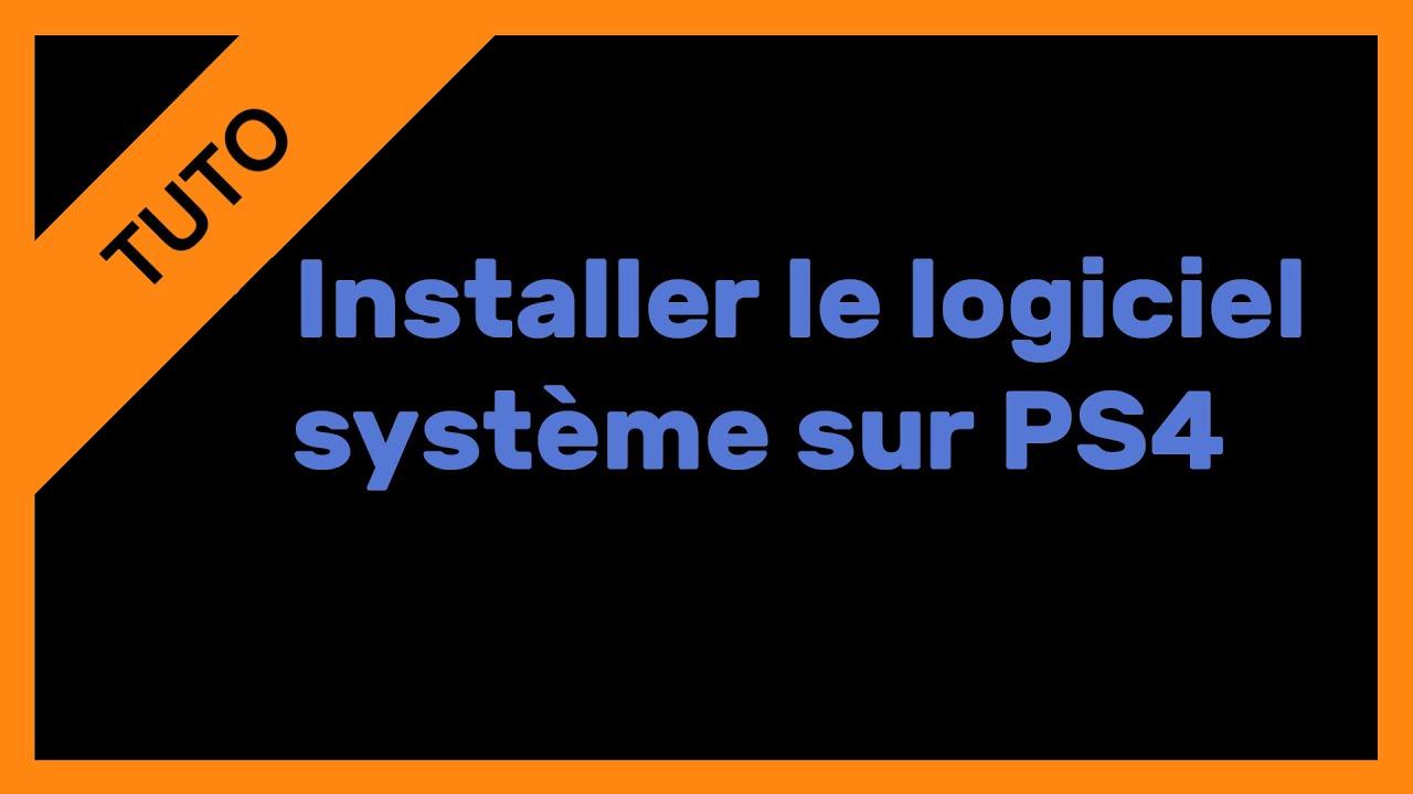DE TÉLÉCHARGER REINSTALLATION PS4 FICHIER
