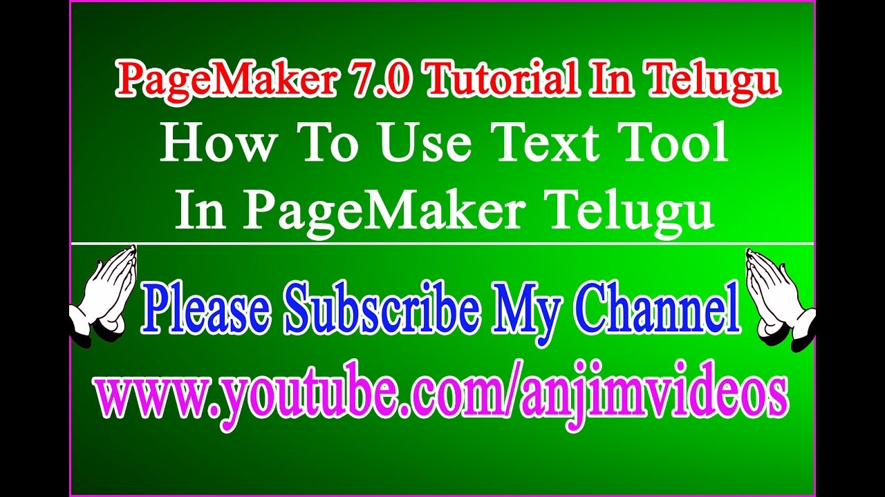 How to use text tool in pagemaker 70 telugu text tool in how to use text tool in pagemaker 70 telugu text tool in pagemaker 70 tutorial telugu baditri Gallery