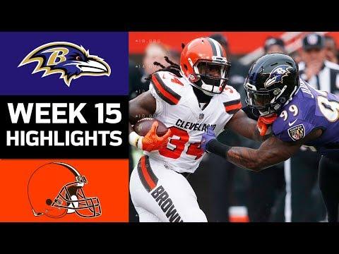Ravens vs. Browns   NFL Week 15 Game Highlights