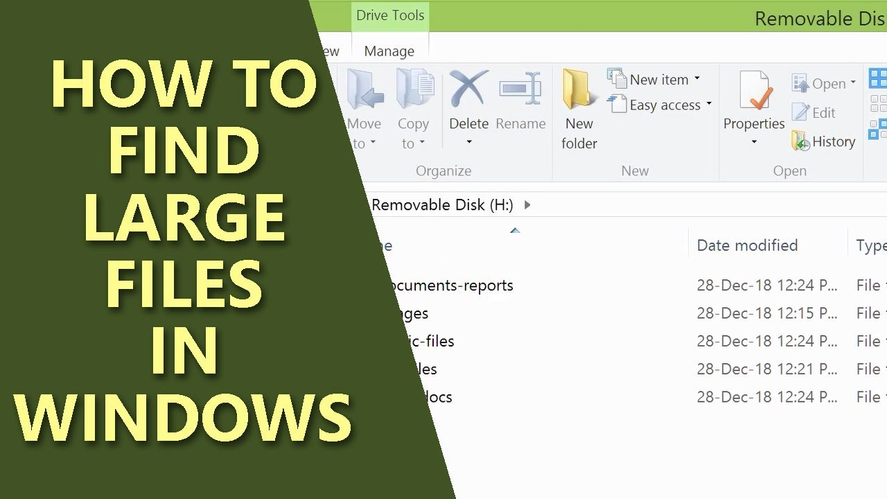 Find Large Files in Windows | Computer Search | How to Search by File Type  - YouTube