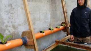 Hand-powered aquaponics rope pump...no electricity