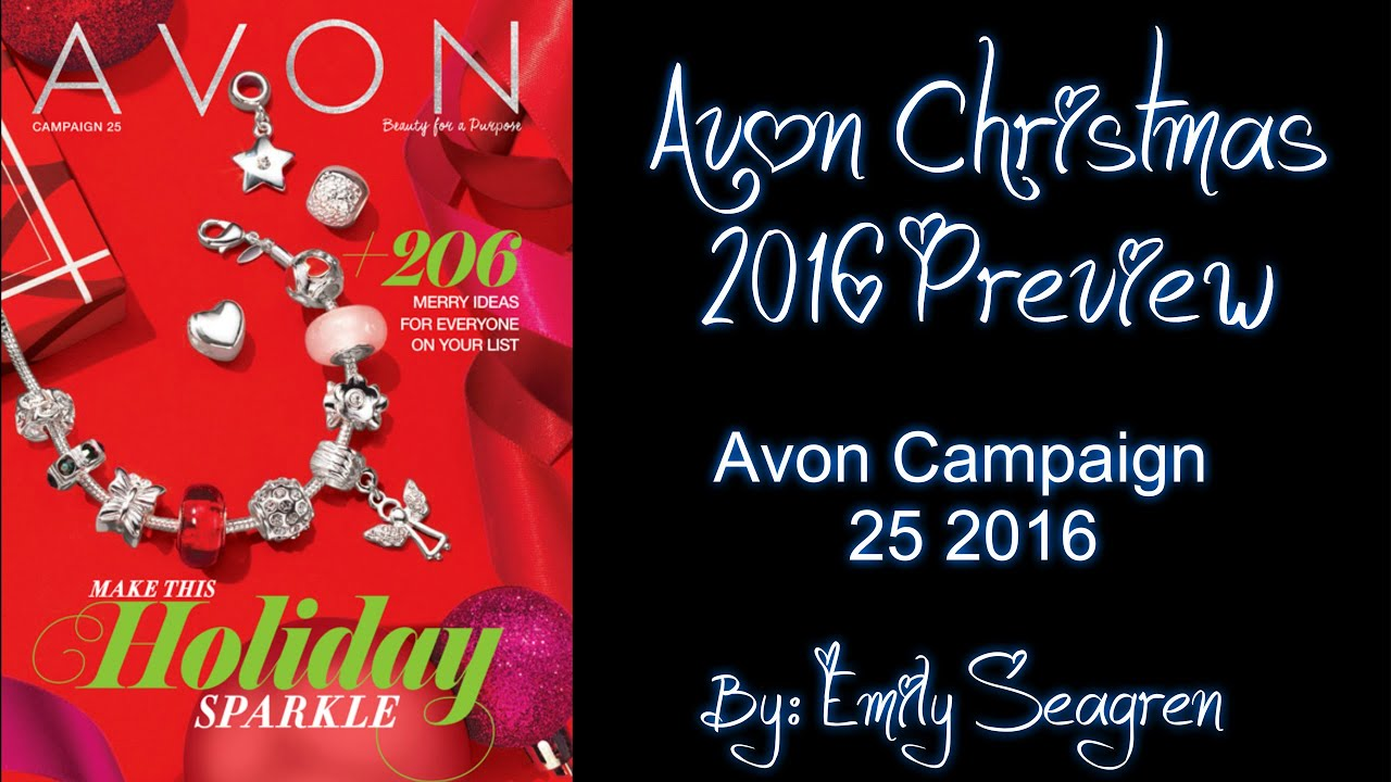 Avon Christmas 2016 Preview - Campaign 25 2016 and Living Haul ...