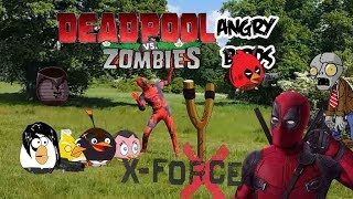 Real life Angry Birds Deadpool Vs Zombies-Bowser12345