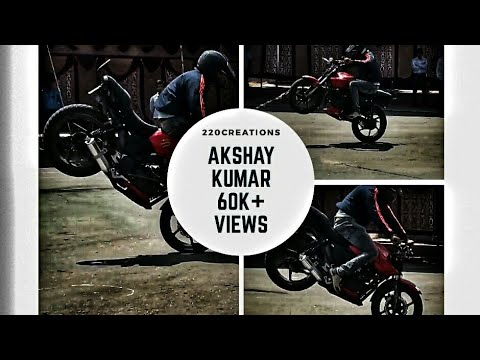 Cool bike stunts by AKSHAY KUMAR at MIT MYSORE - MAHA DASARA 2017