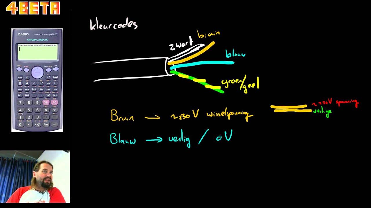 Geliefde Kleuren elektriciteitsdraad - YouTube ON28