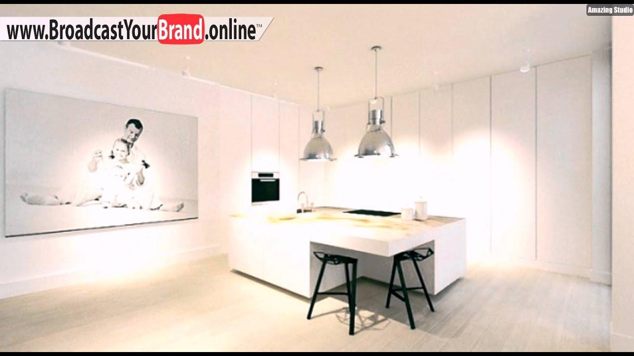 Weiße Küchen Insel Barhocker - YouTube