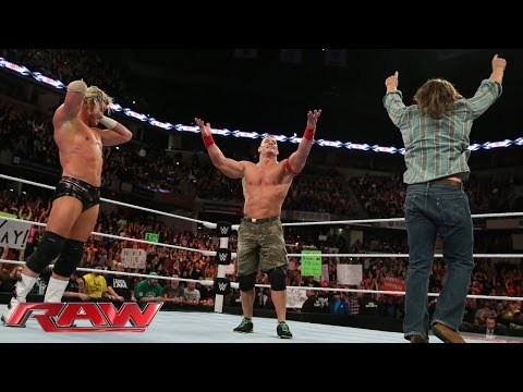 John Cena & Dolph Ziggler vs. Seth Rollins, Jamie Noble & Joey Mercury: Raw, November 24, 2014