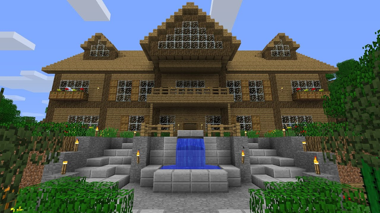 Minecraft je vous pr sente ma maison ep de for Belle maison minecraft