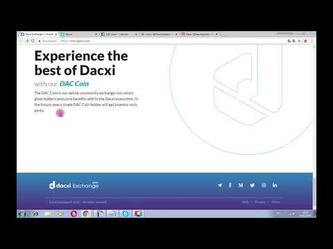 Dacxi -  криптообмен и сообщество инвесторов на основе блокчейн