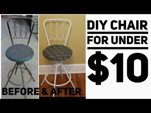 DIY vanity chair/under $10/ DIY home decor