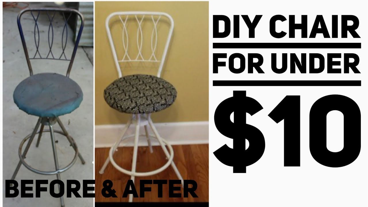 Diy Vanity Chair Under 10 Diy Home Decor Youtube