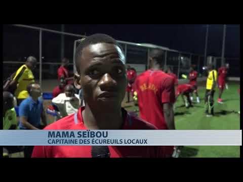 Football : reconnaissance du terrain avant le match Bénin Maroc