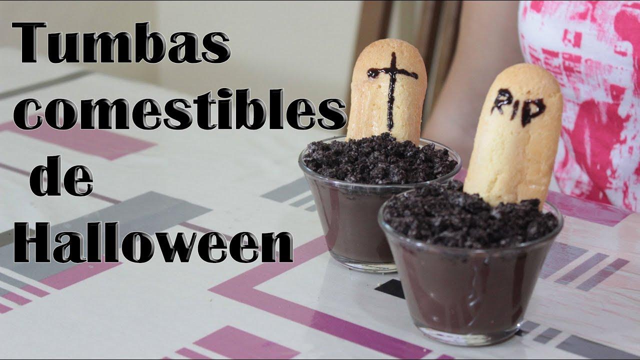 Tumbas comestibles para halloween manualidades f ciles - Manualidades halloween faciles para ninos ...