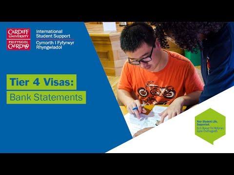 Tier 4 visas: bank statements