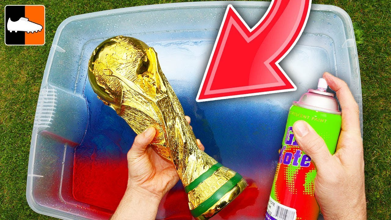 How To Hydro Dip The World Cup! 🏆⚽ Soccer Custom