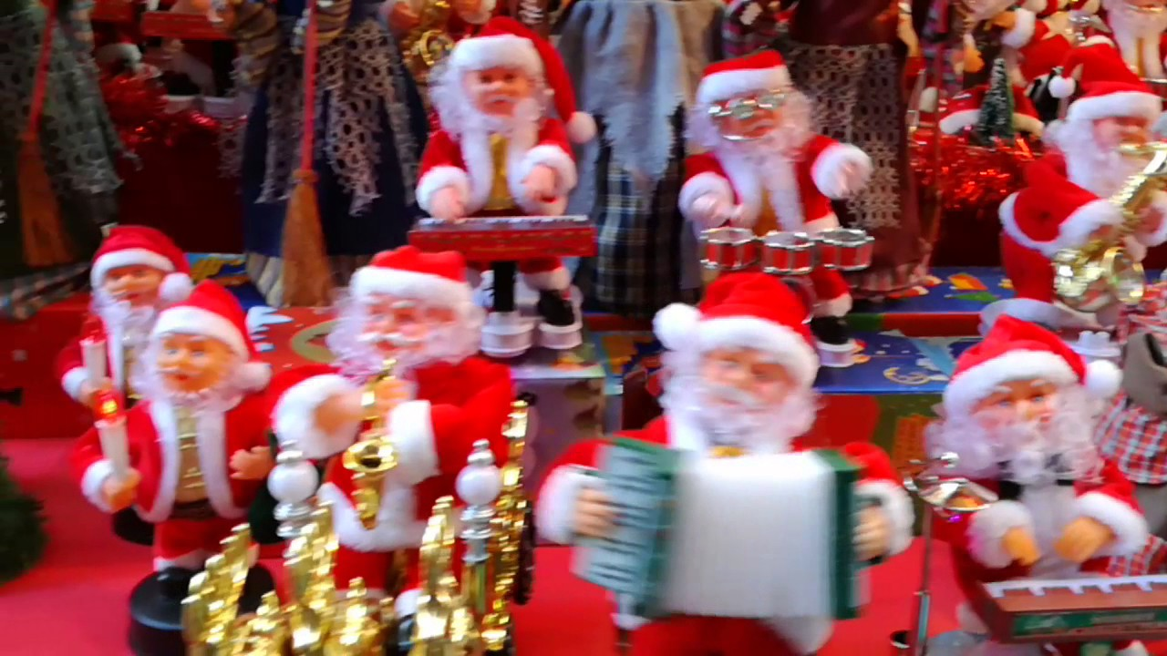 Immagini Natale Che Si Muovono.Pupazzi Babbo Natale Che Suonano