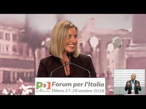 Federica Mogherini al #ForumPd