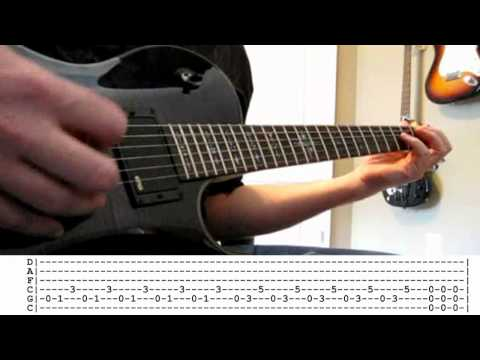 Evans Blue - Erase My Scars guitar cover WITH TABS (HD)
