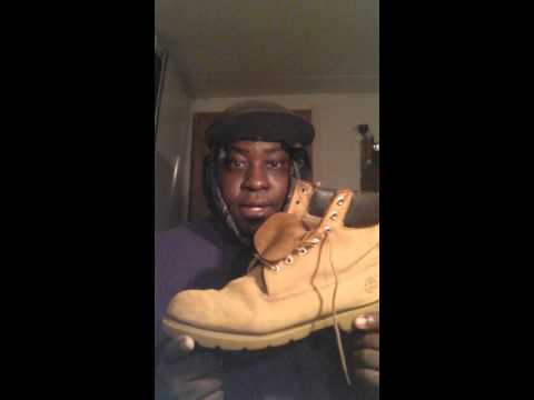 Cleaning timberland boots with sandpaper part 2
