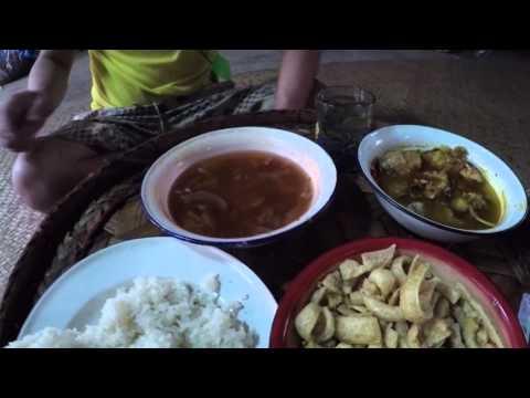 มื้อแลงแบบบ้าน ๆ ส้มหนังหมู อ่องปลาใน อาหารอร่อยชาวไทใหญ่ Tai Yai local food