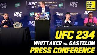 UFC 234: Whittaker vs. Gastelum Press Conference | w/ Whittaker, Gastelum, Israel Adesanya