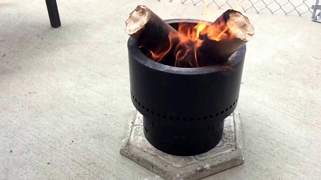 Flame Genie Hack Using Giant Pellet Logs Youtube