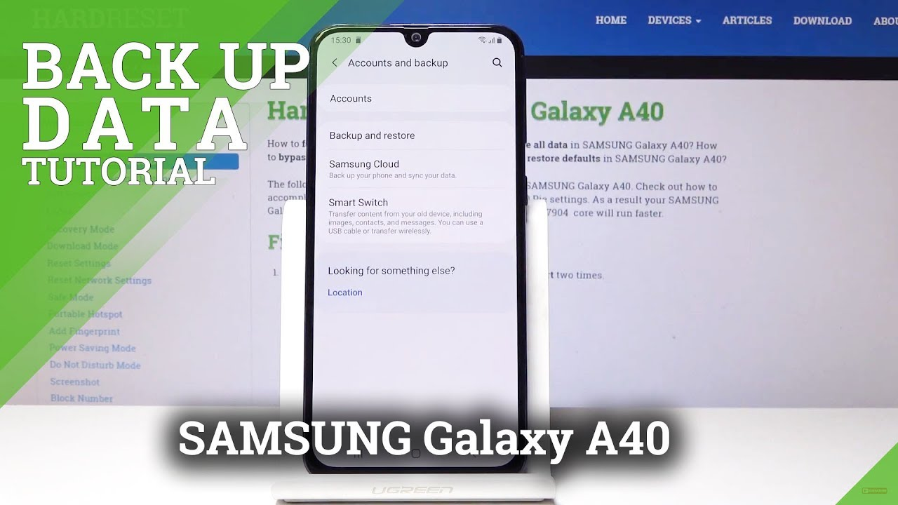 How to Enable Google Backup in SAMSUNG Galaxy A40 - Backup Data
