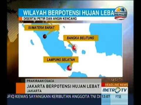 BMKG: Hujan Lebat Disertai Petir akan Landa Jakarta Mp3