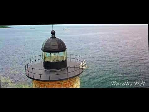Mavic Pro, Wood Island Life Saving Station, and Whaleback Lighthouse, Kittery Point. Drone Flight