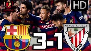 Barcelona 3-1 Athletic Club| RESUMEN Y GOLES HD| COPA DEL REY| 27-01-16
