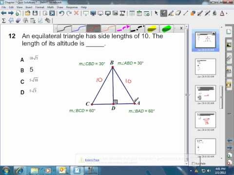 Height Of An Equilateral Triangle