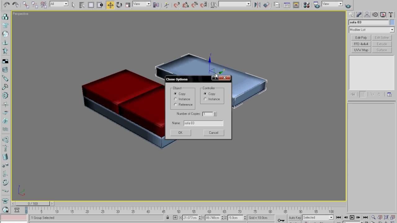 Cara Membuat Sofa Dengan 3Ds Max YouTube