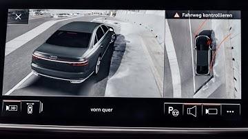 Audi A8 (2018) 360 degree cameras presentation :: [1001cars]