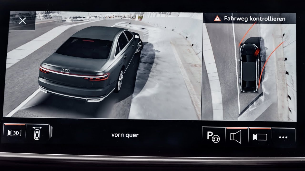 2018 Audi A7 >> Audi A8 (2018) 360 degree cameras presentation :: [1001cars] - YouTube