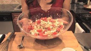 Tomato, Mozzarella & Brown Rice Salad : Different Tastes & Recipes