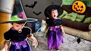 HALLOWEEN 2018: FANTASIA DO DIA DAS BRUXAS!! 🎃Laura Prentend Play - Witch Costume for Kids