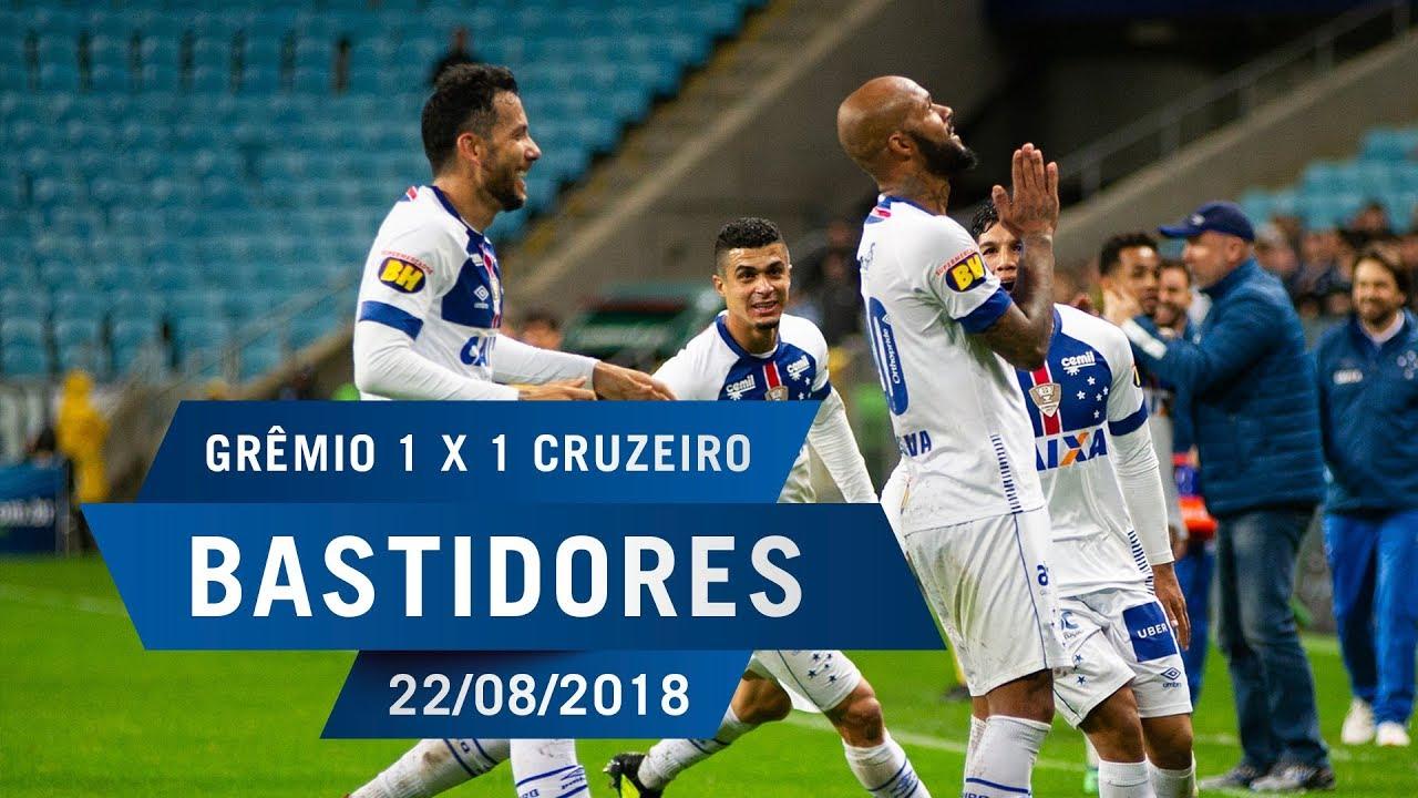 caaaf5a66e 22 08 2018 - Bastidores - Grêmio 1 x 1 Cruzeiro - YouTube
